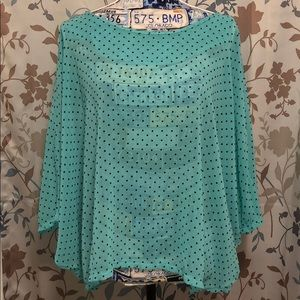 Mint Green Polka Dot Blouse MEDIUM